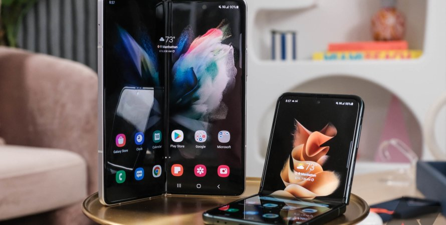 Z Flip 3, смартфон, Galaxy Z Fold3, Z Fold3