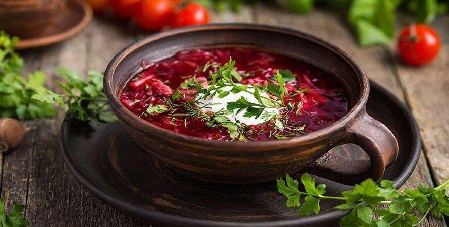 борщ, блюдо, українська кухня, суп