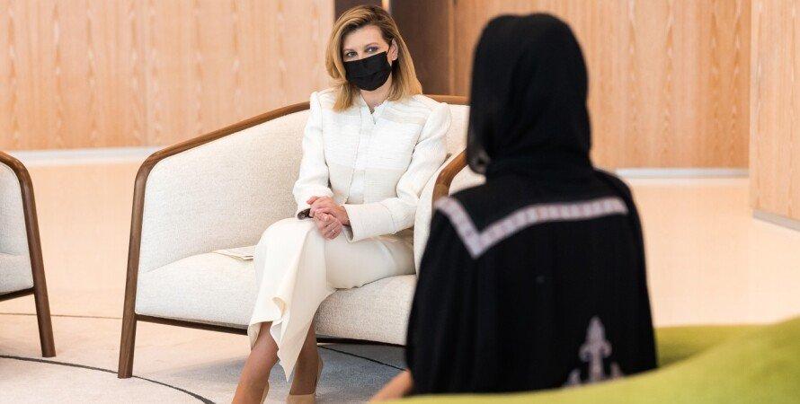 шейха Моза бинт Нассер, Елена Зеленская, встреча