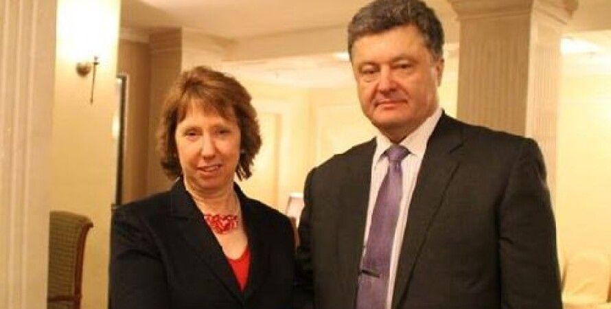 Петр Порошенrо и Кэтрин Эштон / Фото: Lenta.ru