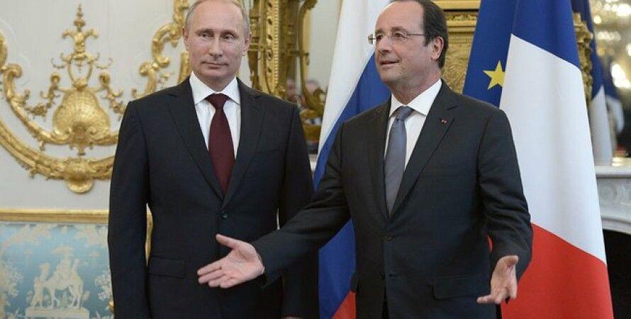Франсуа Олланд и Владимир Путин / Фото: пресс-служба Кремля