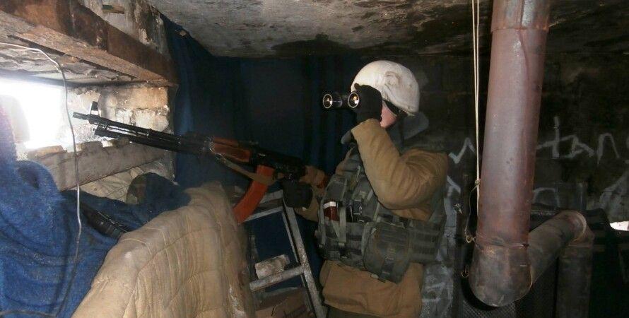 Боец АТО в Донбассе / Фото пресс-центра АТО