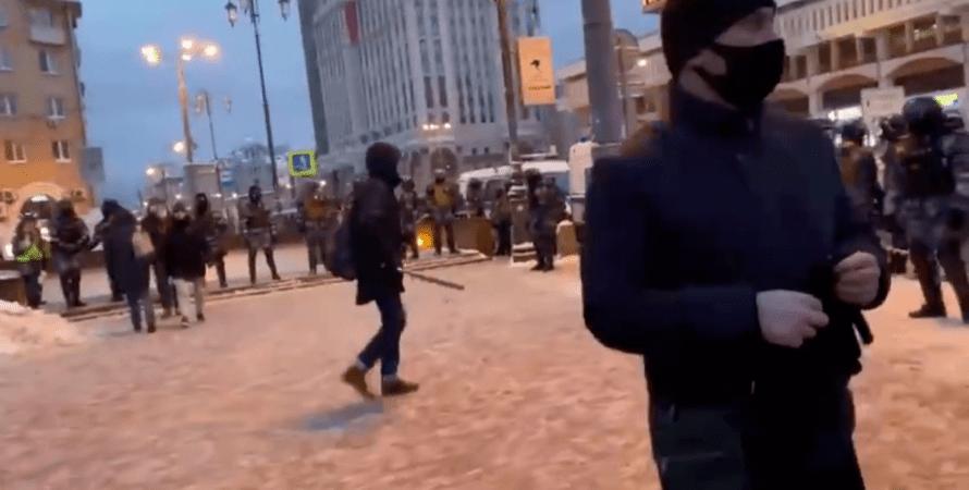 митинги в россии, протесты, сми, омон