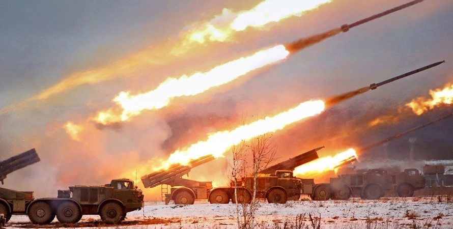 обстріли українських сил рф