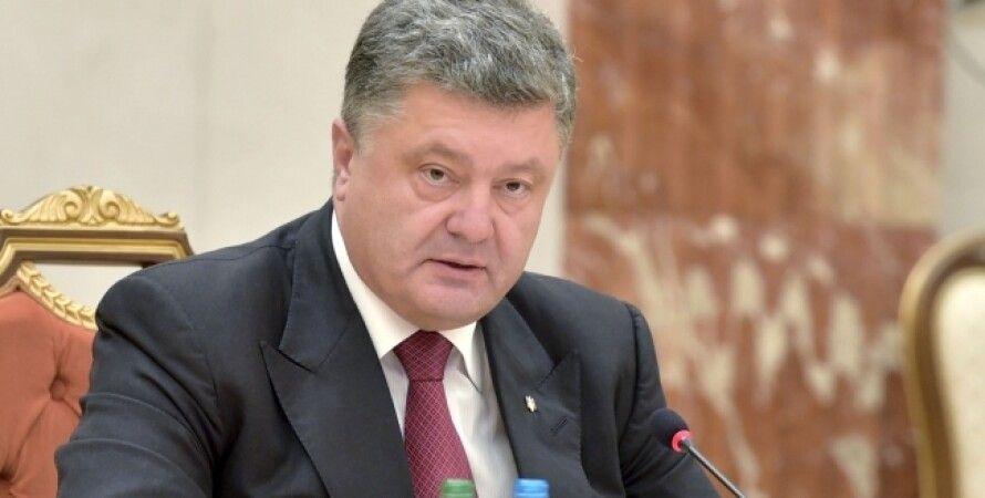 Петр Порошенко на переговорах в Минске / Фото пресс-службы президента Украины