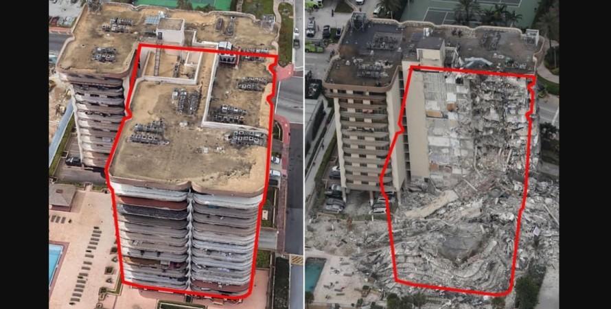 сша, флорида, обрушенное здание, фото