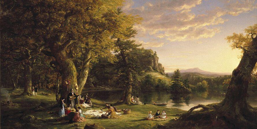 Картина Томаса Коула «Пикник», 1846 г