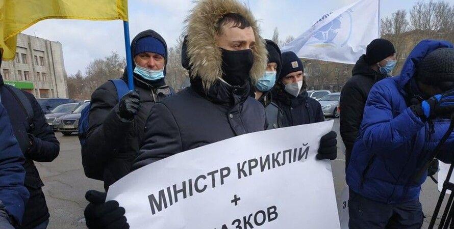 Одесса, моряки, протест, коррупция, Одесса-Киев, трасса, перекрытие,