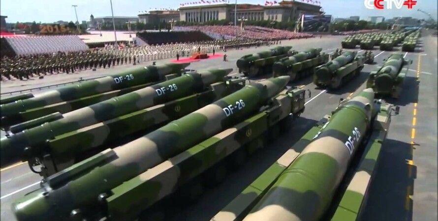 Ракеты DF-26 на параде в Пекине в 2015 году