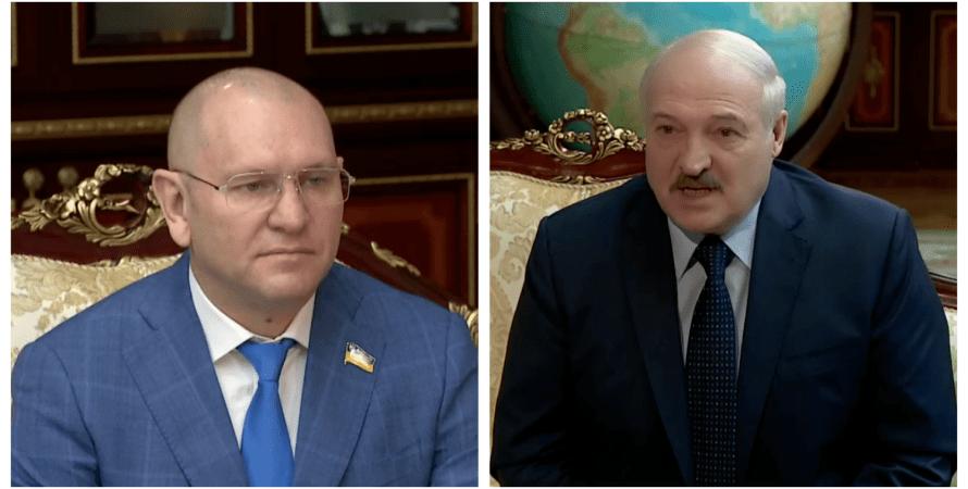 Евгений Шевченко, Александр Лукашенко, коллаж, визит в Минск, президент Беларуси