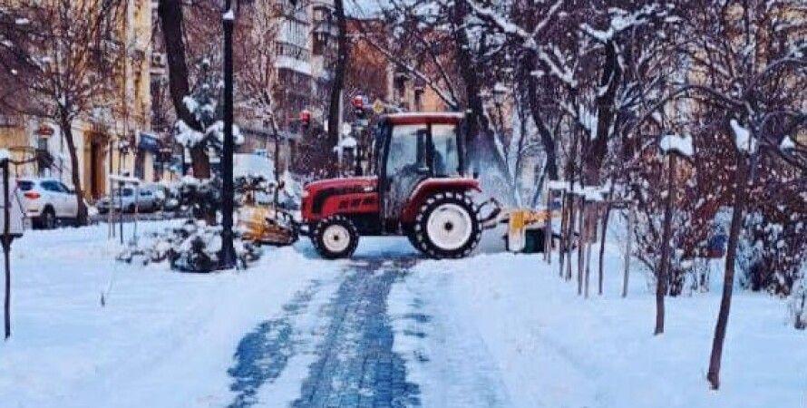 погода, київ, снігопад, прибирання снігу, Тимур Ткаченко, комунальники