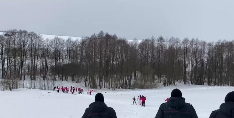 беларусь, лыжники, задержали, протест, акция