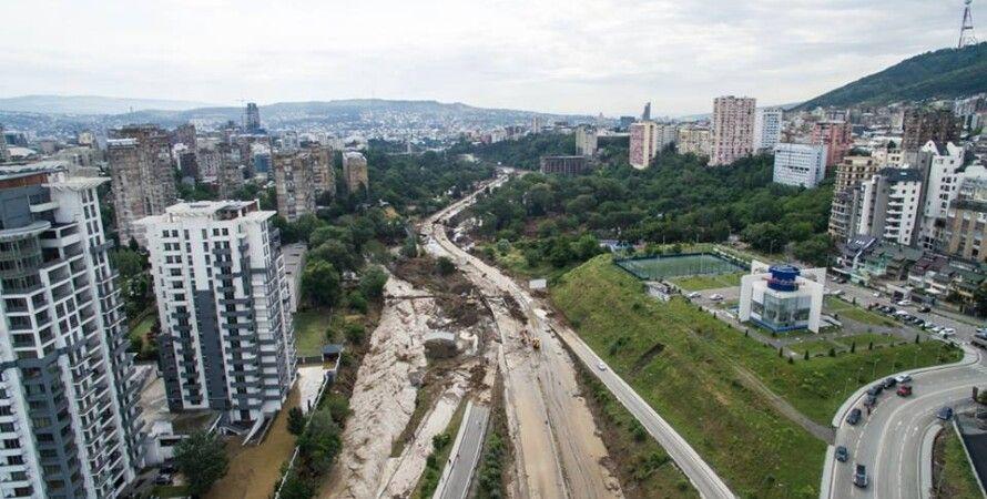 Вид на Тбилиси после наводнения / Фото: facebook.com/gurdzhy