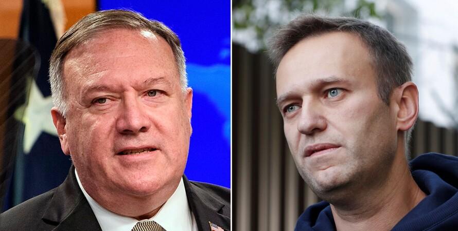 Майк Помпео і Олексій Навальний