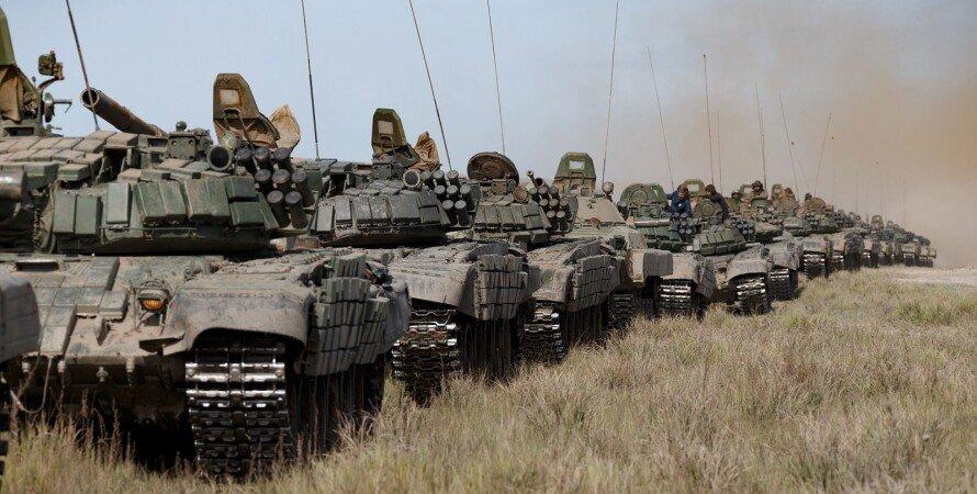 танки, поле, небо, война, россия, рф
