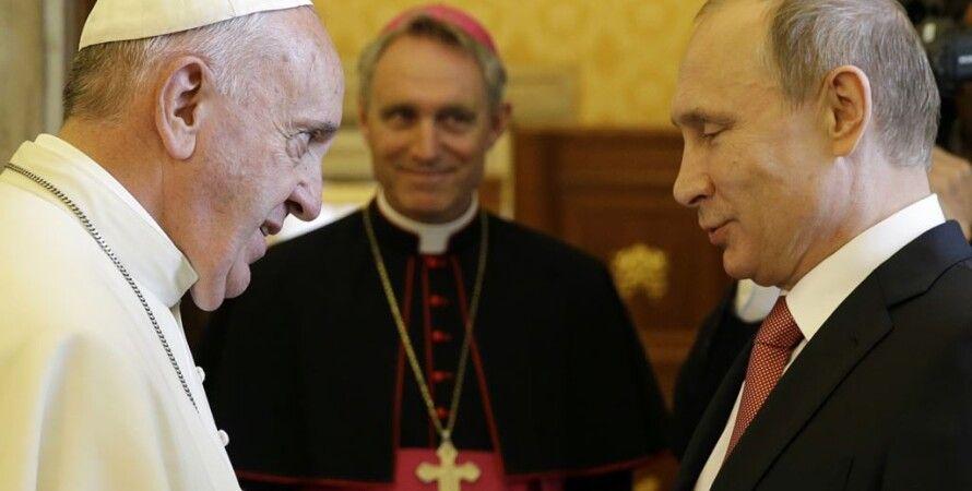 Папа Римский Франциск и Владимир Путин / Фото: AFP