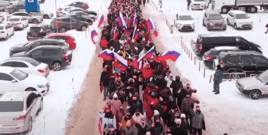 владимир путин, акция, флешмоб в поддержку путина, 2021, сима-ленд, сотрудники