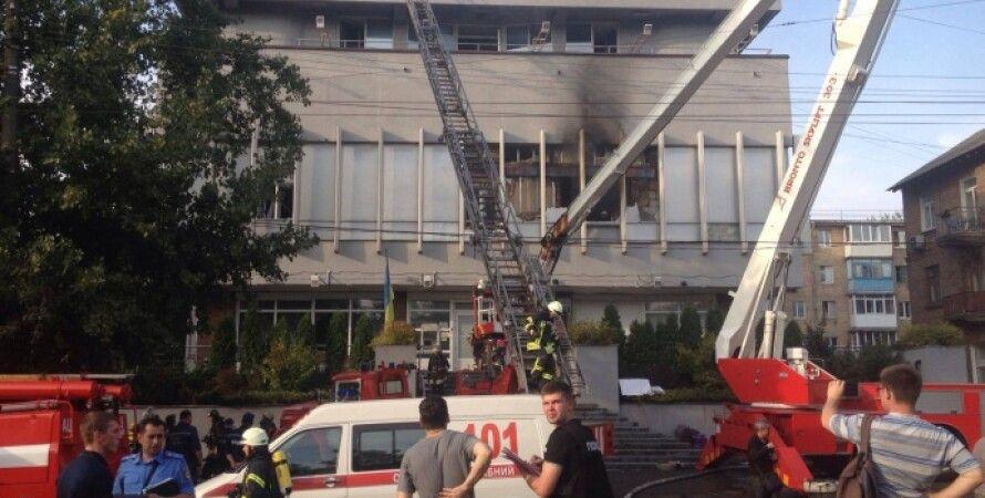 """Пожар в здании телеканала """"Интер"""" / Фото: lb.ua"""