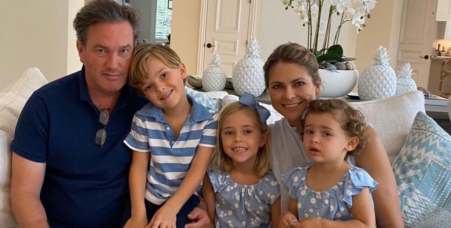 принцеса Мадлен, діти, сім'я