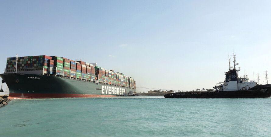 Ever Given, контейнеровоз, суэцкий канал, египет, пробка, корабли