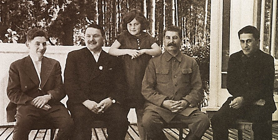 дети Сталина, Жданов, Сталин, ретро фото