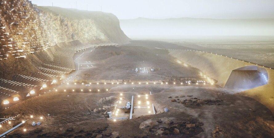 Марс, поселение, колонизация, город