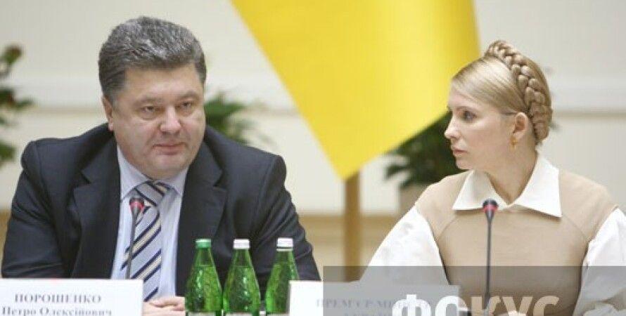 Петр Порошенко и Юлия Тимошенко / Фото: Иван Черничкин, Фокус