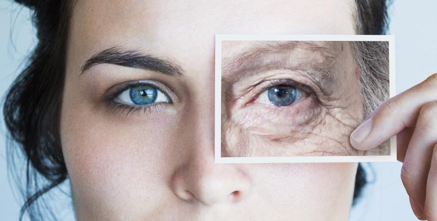 жіноче обличчя, молодість і старість