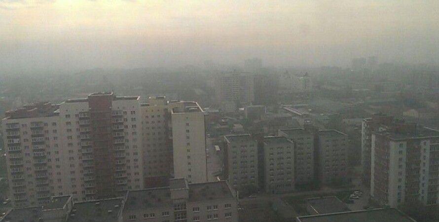 Новосибирск, вид из окна 24 апреля. Фото: tayga.info