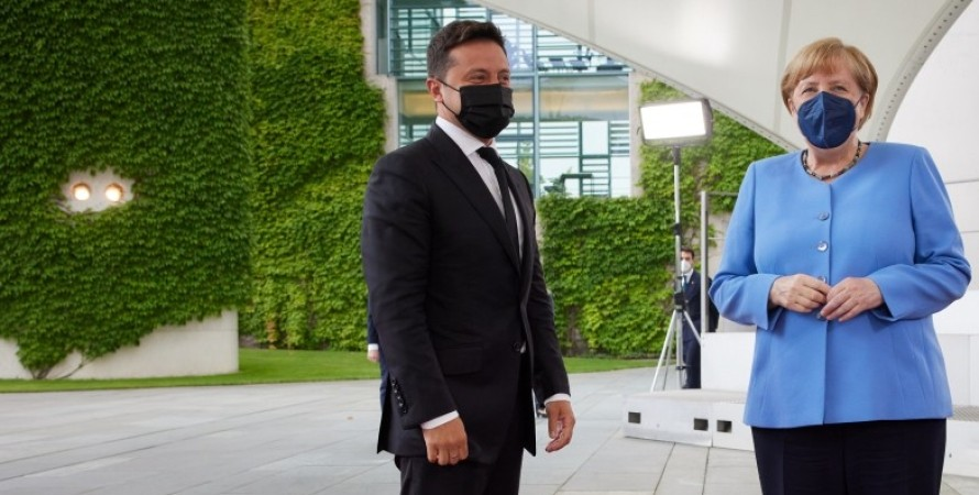 Володимир Зеленський і Ангела Меркель в Берліні