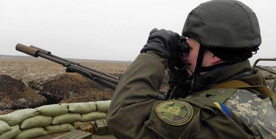 Воин АТО в Донбассе / Фото пресс-центра АТО