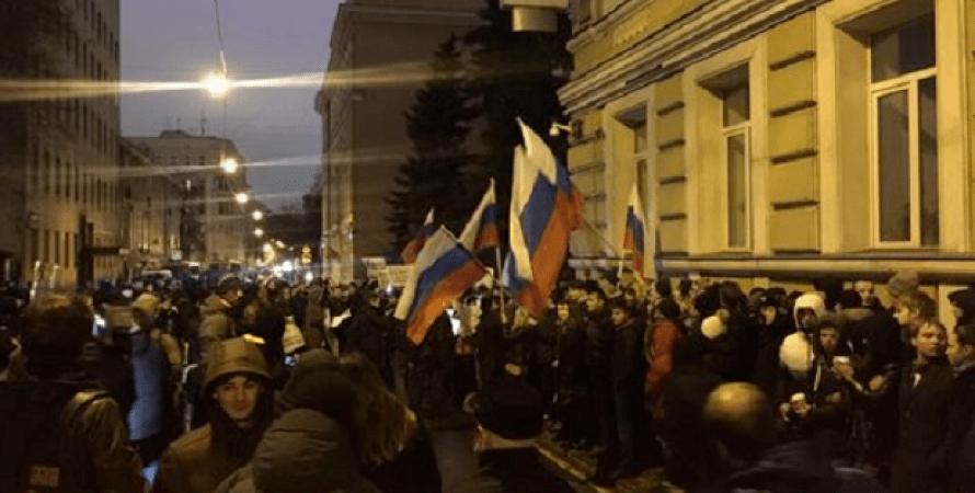 Посольство Украины в Москве забросали яйцами / Фото: rusnovosti.ru