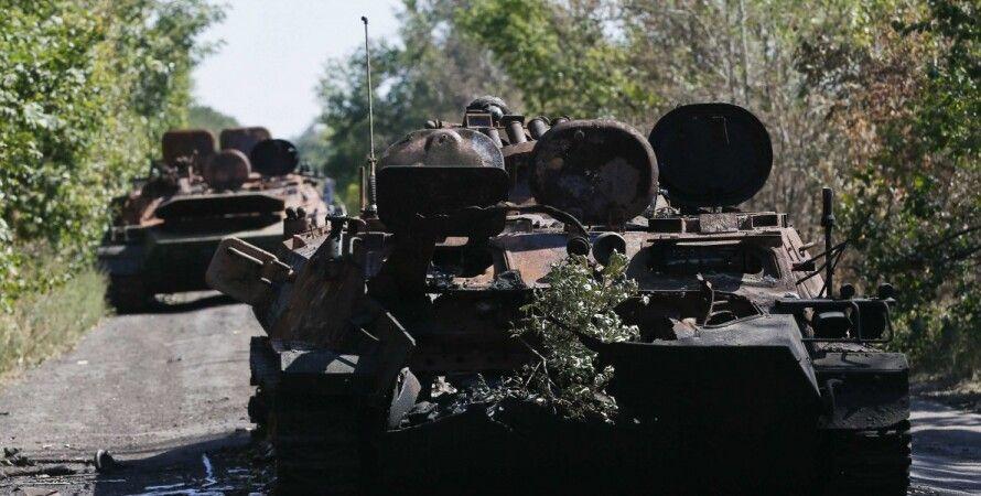 Разбитая колонна сил АТО под Иловайском / Фото: Reuters