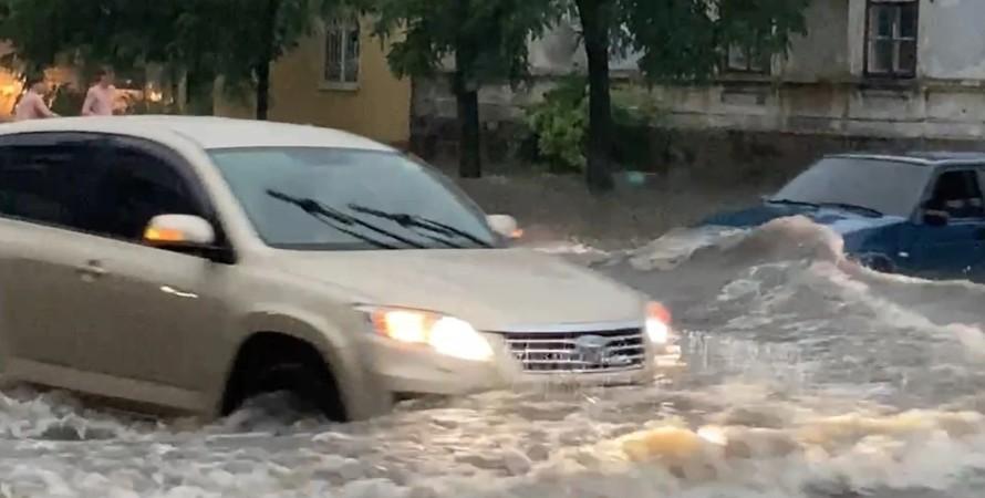 Бердянськ, зливи, потоп,