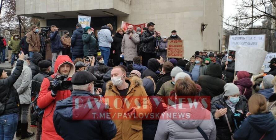 митинг, тарифы, офис президента, киев, 25 января