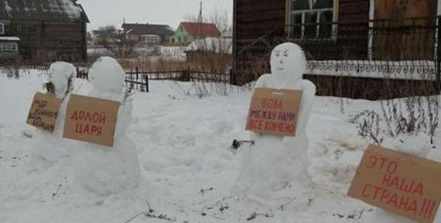 снеговики, полиция
