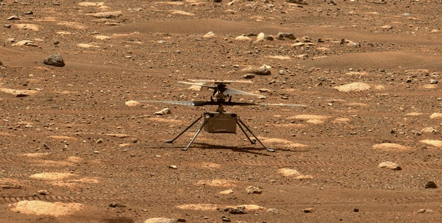 Ingenuity, Марс, Вертоліт, Випробувальний політ, Лопаті