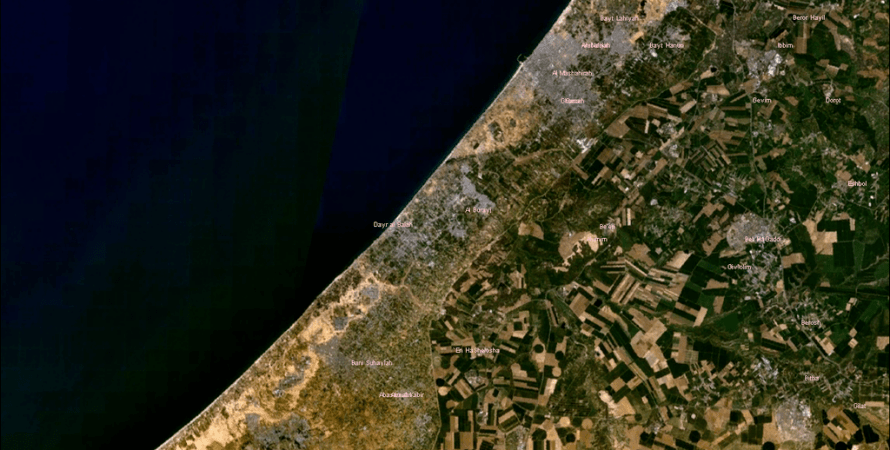 Сектор Газа, спутник