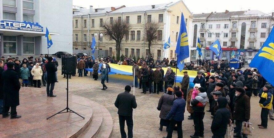 Митинг в Виннице, 7 декабря / Фото: Hromadske.tv