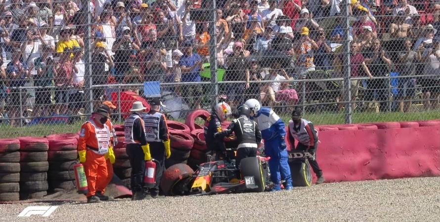 Макс Ферстаппен, аварія, Формула-1