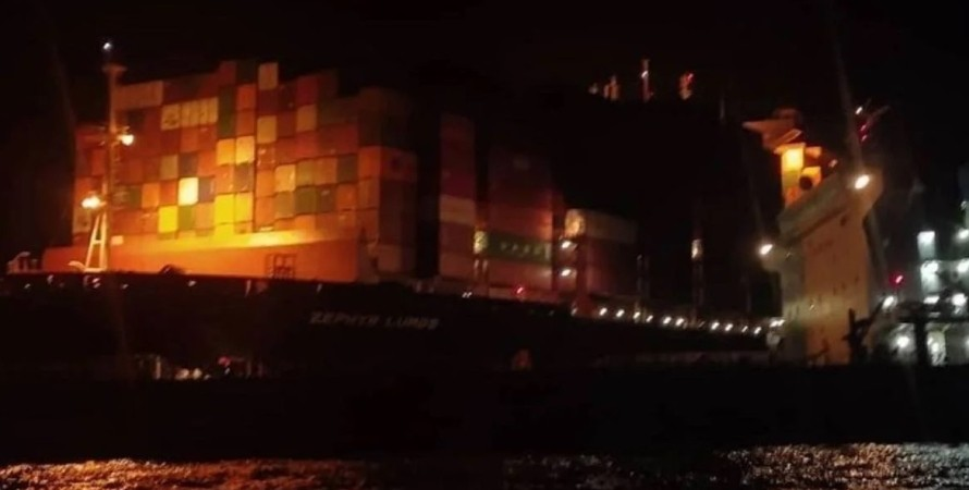 ZEPHYR LUMOS,  Panamax GALAPAGOS, корабли, столкновение,