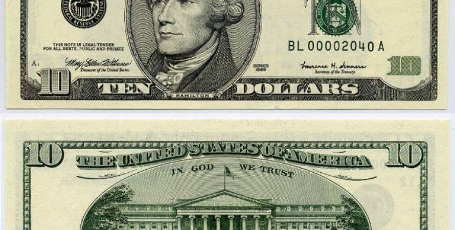 10-долларовая купюра