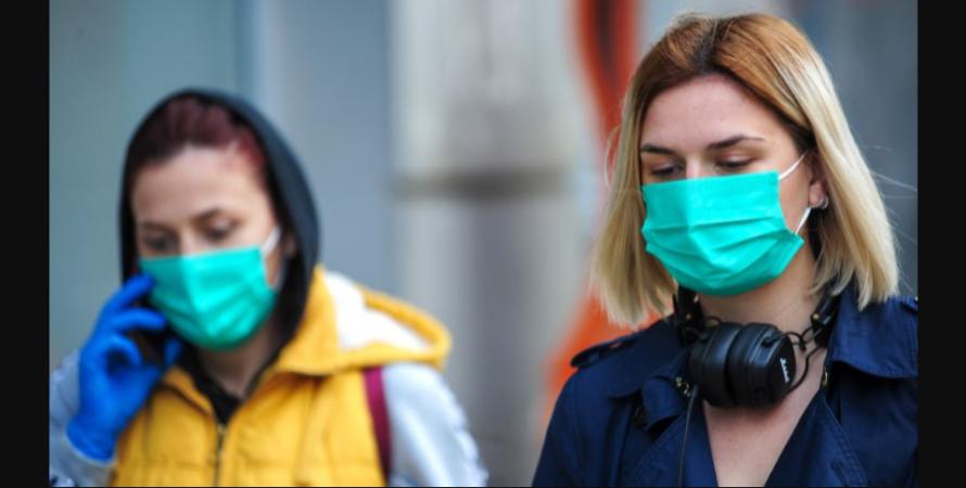 коронавірус, Україна, люди в масках, вулиця, фото