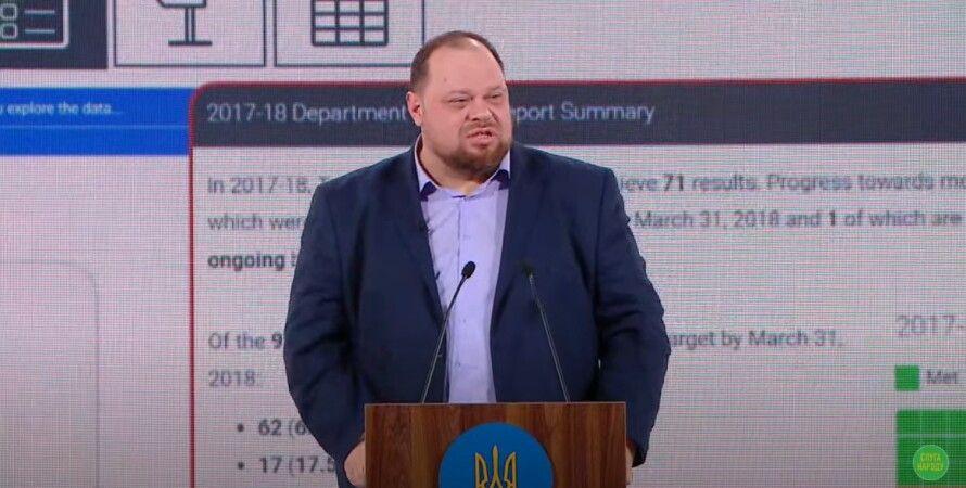 Руслан Стефанчук, съезд партии Слуга народа