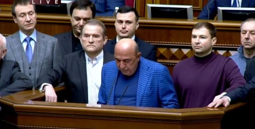 рабинович о санкциях против медведчука, выступление в раде, верховная рада украины