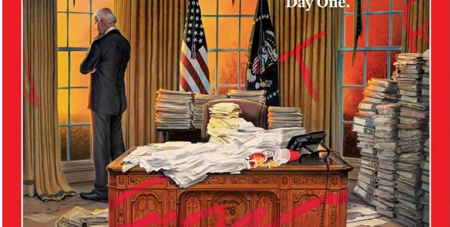 Time, обложка, овальный кабинет, джо байден, трамп