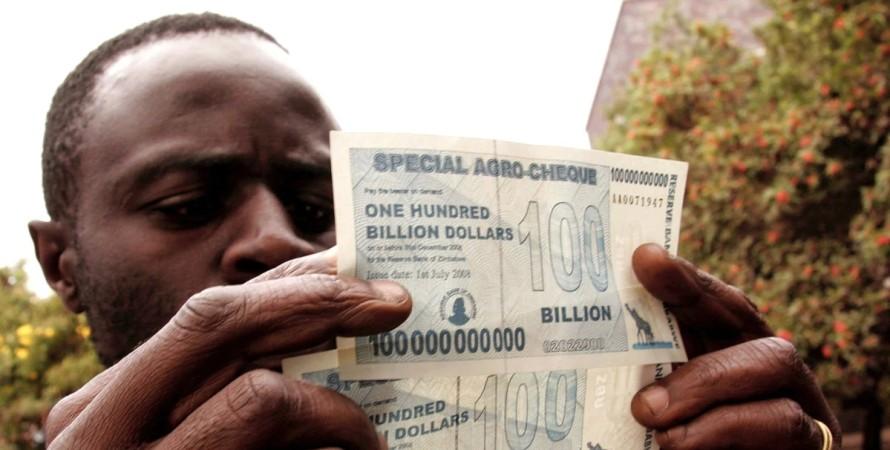 Зімбабве, інфляція в Зімбабве, валюта Зімбабве, долар Зімбабве