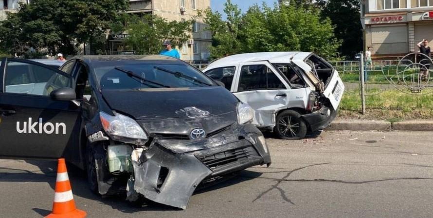 Киев, ДТП, такси,