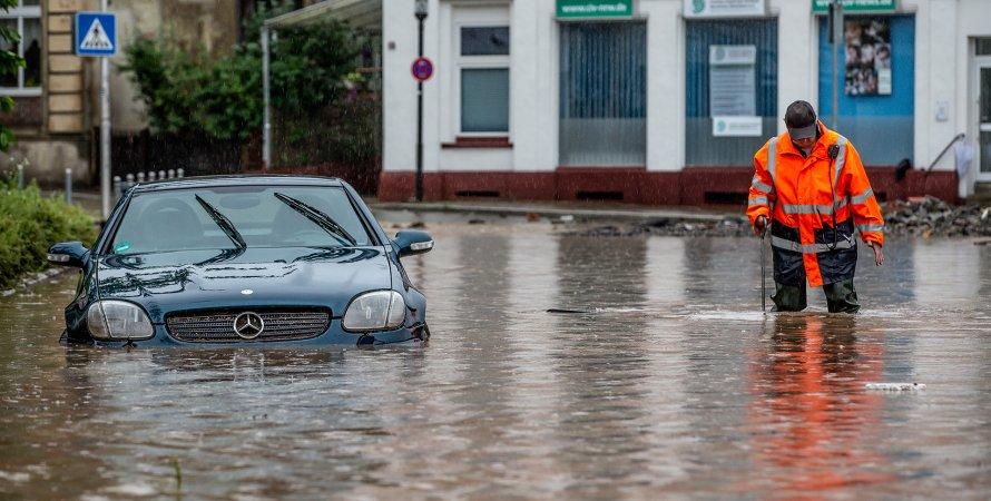 потоп, повінь в Німеччині, циклон Бернд, затоплення в Німеччині
