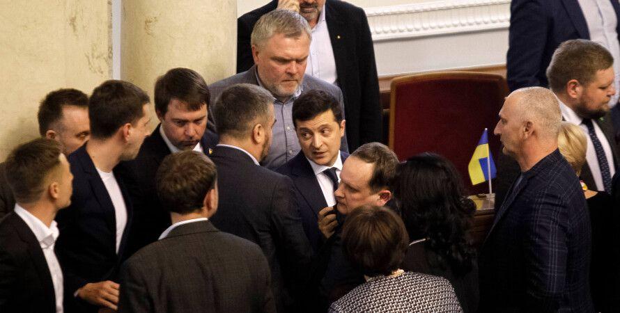 Зеленский, Рада, депутаты, фото, роспуск Рады